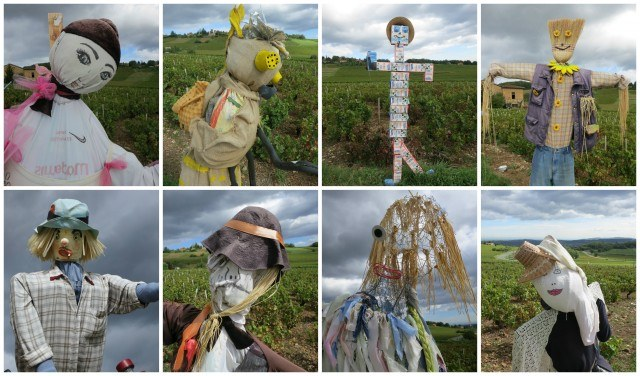 Scarecrows in the Field Beaujolais France