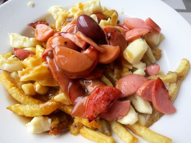 Hot Dog Poutine in Montreal Canada