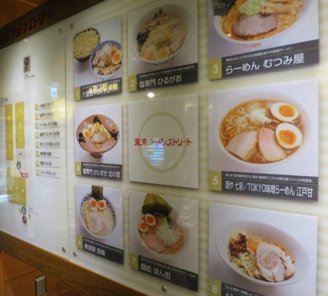 A guide to Tokyo Ramen Street.