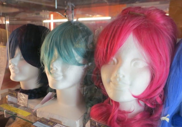 Wigs for Sale in Tokyo Japan - Akihabara and Otaku Culture