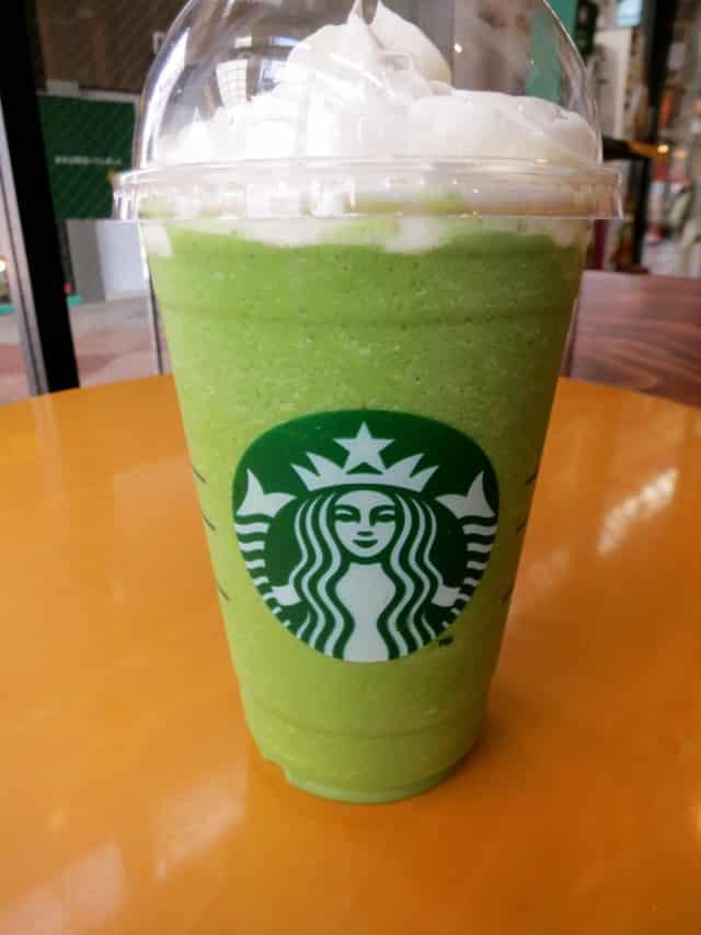 Matcha Frappuccion at Starbucks in Tokyo