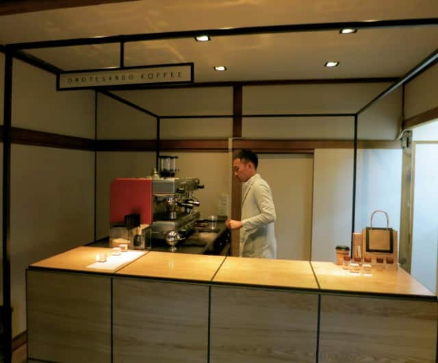 Minimalistic Omotesando Koffee in Tokyo Japan