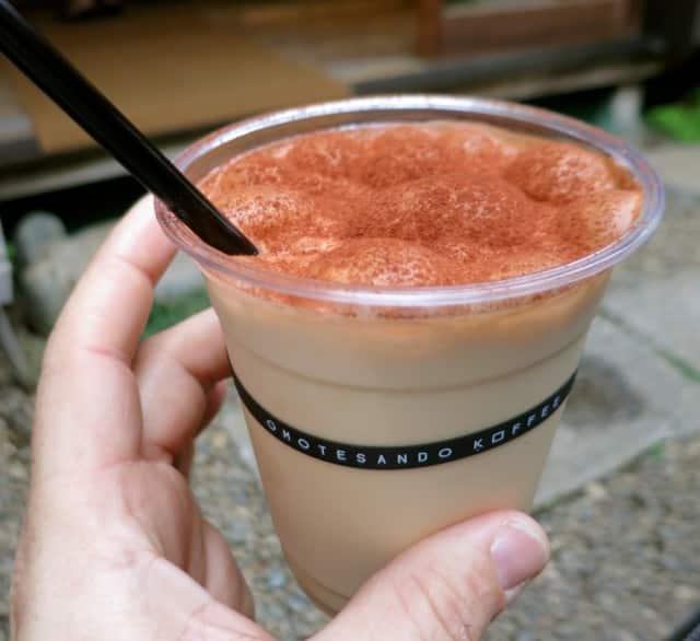 Iced Cappuccino at Omotesando Koffee Tokyo Japan
