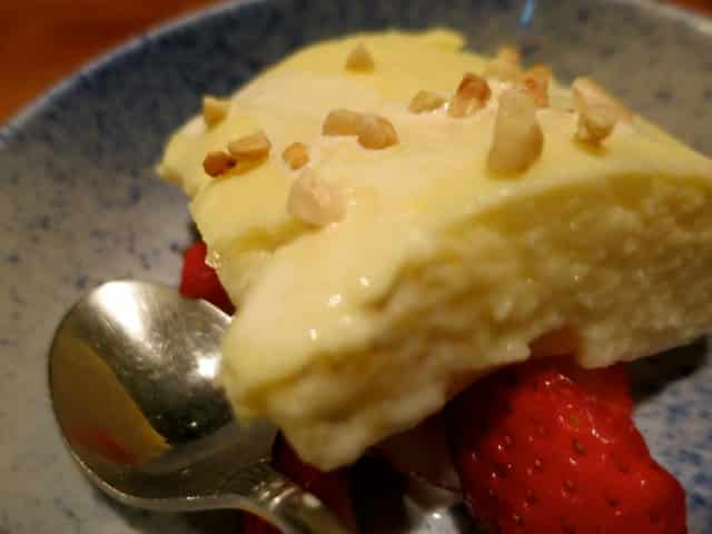 Rice Pudding with Strawberries Bird Land Tokyo Japan. Bird Land - Meat on a Stick and So Much More in Tokyo