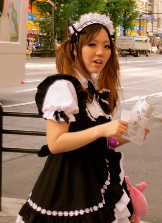 Maid Caught in the Action in Tokyo Japan - Akihabara and Otaku Culture