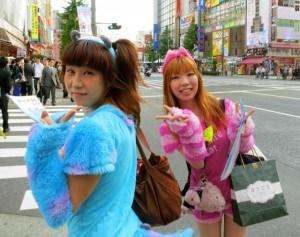 Maids Walking around Akihabara in Tokyo Japan