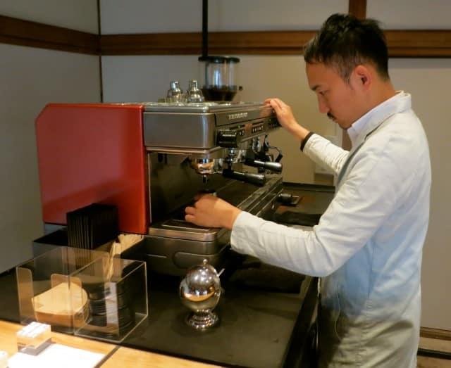 Crafting the Latte at Omotesando Koffee in Tokyo Japan