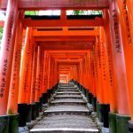 Pinterest image: image of Kyoto with caption 'Fushimi Inari Taisha in Kyoto'