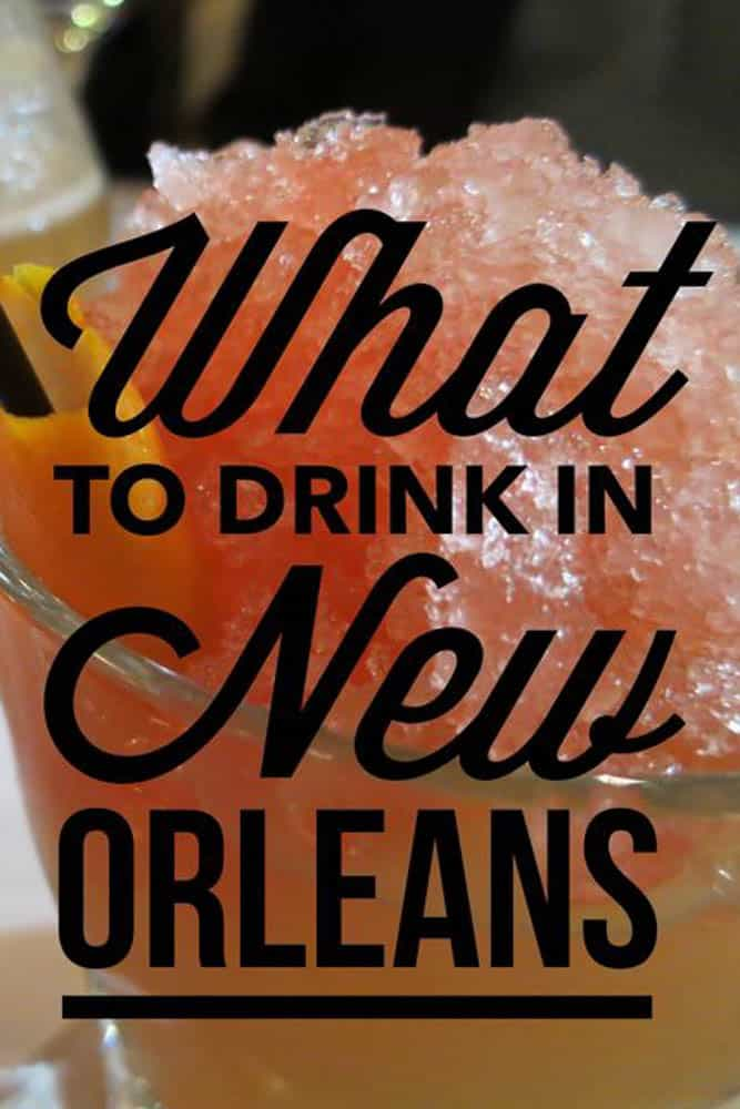 There's no need to be thirsty in New Orleans since great drinks abound from coffee to cocktails to beer. Drinking in New Orleans is fun.