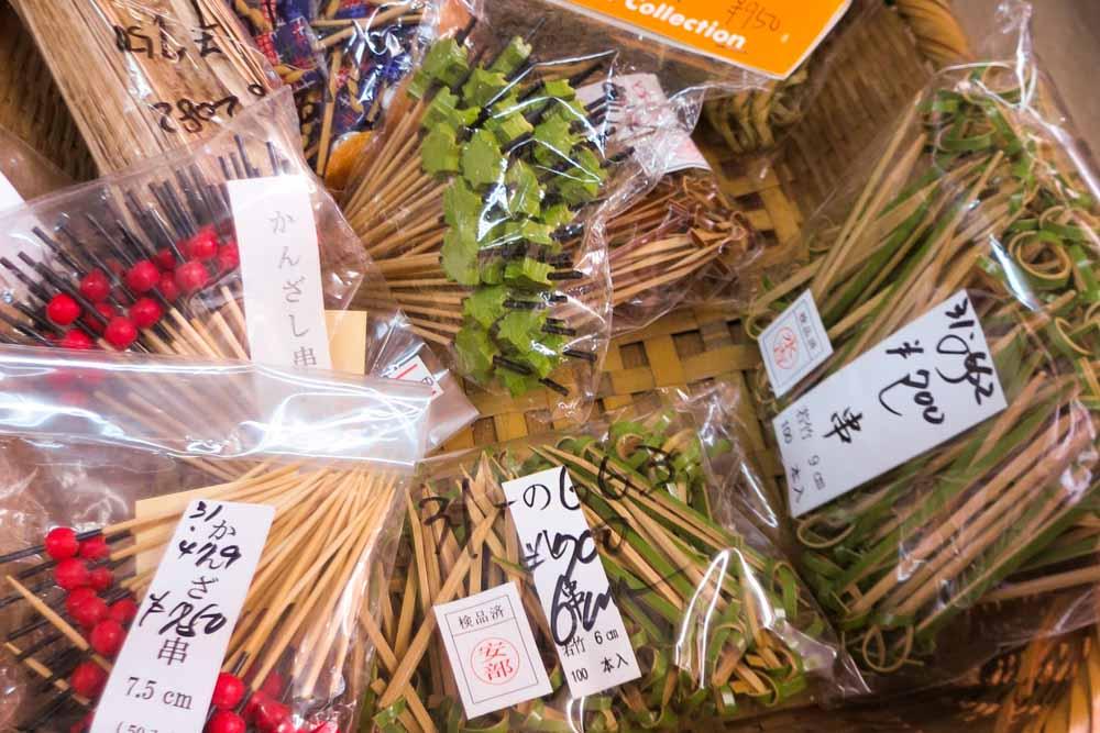 Serving Toothpicks on Kappabashi Street in Tokyo Japan