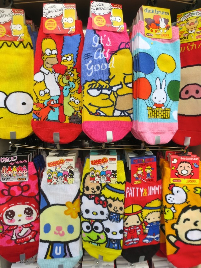 Colorful Socks in Tokyo Japan