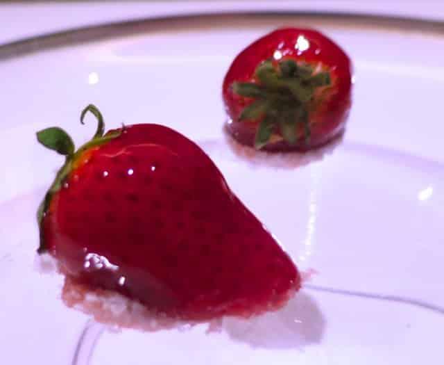 Glazed Strawberries at Florilege in Tokyo Japan