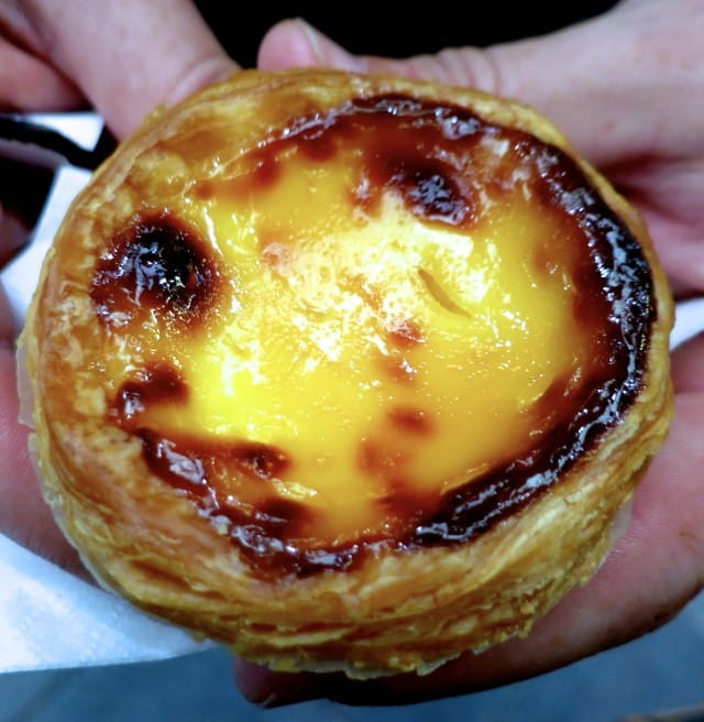 Pastel de Nata at the Nishiki Market in Kyoto Japan