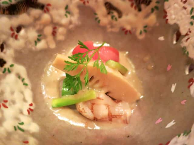 Sea Bream and Seasonal Vegetables Kaiseki Dinner Kyoto