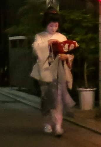 Geisha from the Front Kyoto Japan Around Kyoto