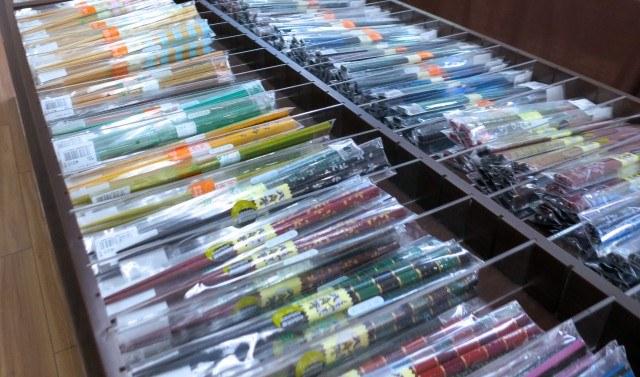 Chopsticks on Kappabashi Street in Tokyo Japan