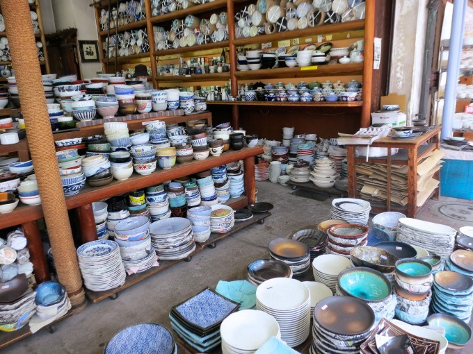 Pottery - Shopping on Tokyo's Kappabashi Street in Japan Tokyo
