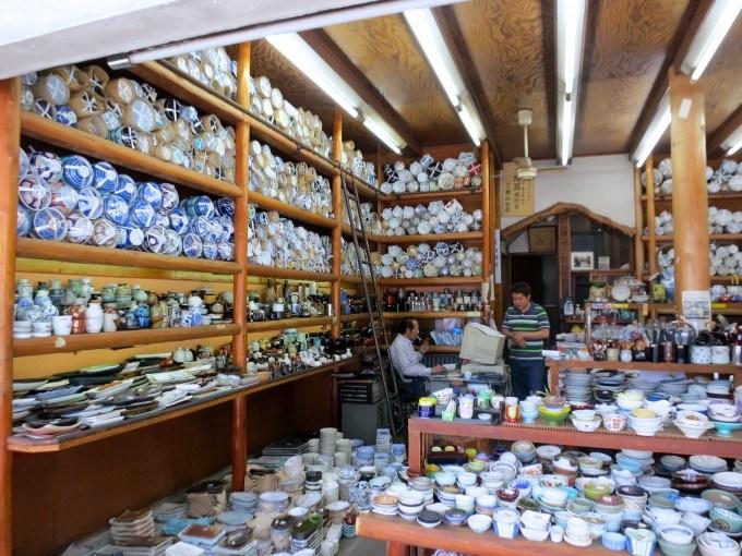 Random Pottery Shop Kappabashi Street Tokyo Japan
