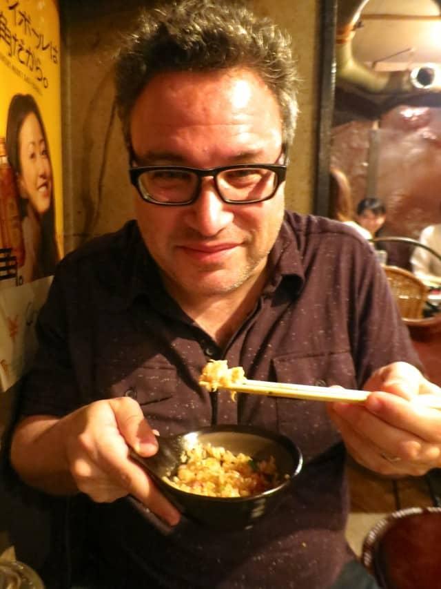 Daryl at an Izakaya in Tokyo Japan