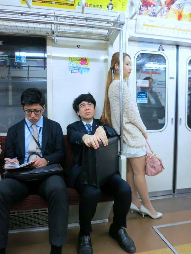 Subway People Watching in Tokyo Japan