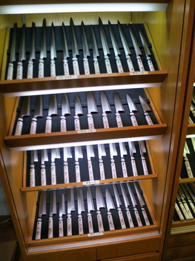 More Beautiful Knives on Kappabashi Street in Tokyo Japan