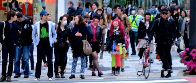 Colorful People in Tokyo Japan