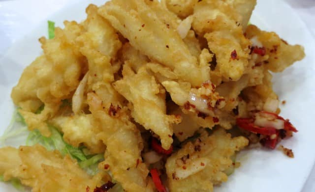 Deep Fried Squid at Rol San in Toronto Canada