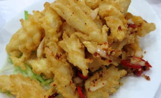Deep Fried Squid in Spicy Salt Rol San Toronto dim sum in toronto