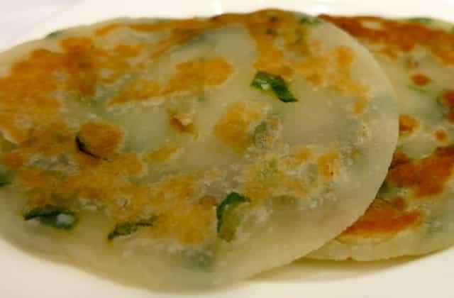 Pan Fried Pancakes at Rol San in Toronto Canada