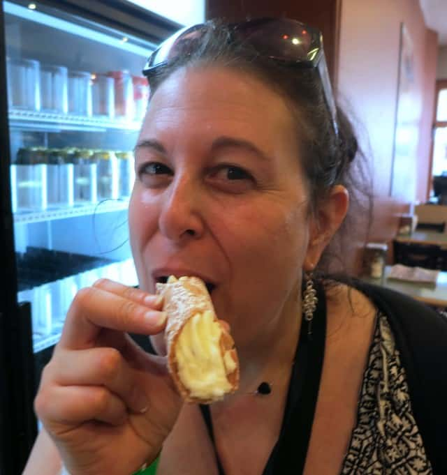 Enjoying a Cannoli at Little Italy's Riviera Bakery Toronto Canada cultural mosaic