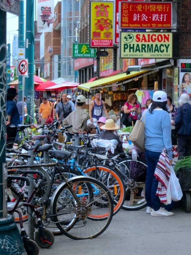 Vibrant Chinatown in Toronto Canada