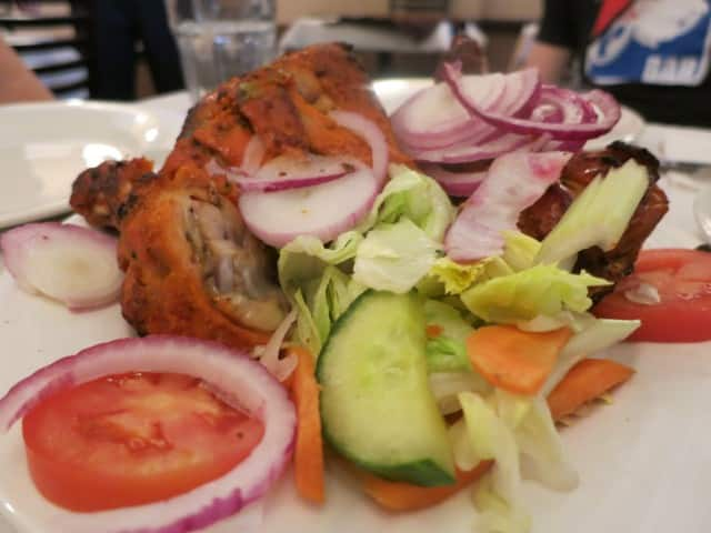 Tandoori Chicken at Little India's Bar-Be-Que Hut Toronto Canada cultural mosaic