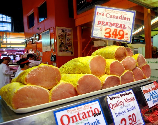 Peameal Canadian Bacon in Toronto Canada