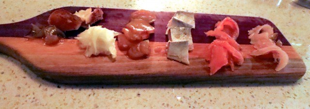 Fish Charcuterie Board at the Black Hoof in Toronto Canada