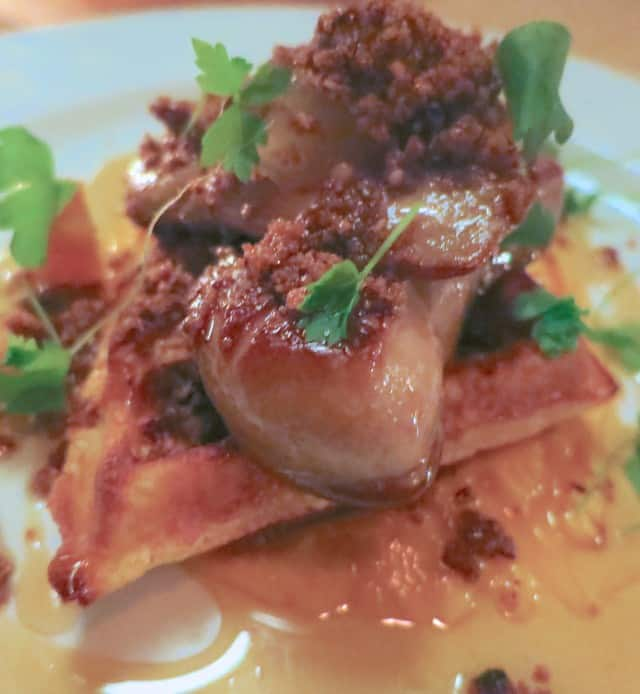 Foie and Waffle at the Black Hoof in Toronto Canada