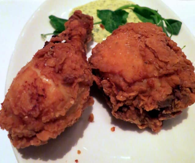 Buttermilk Fried Chicken with Sauce Remoulade and Green Tabasco Mason Pacific San Francisco