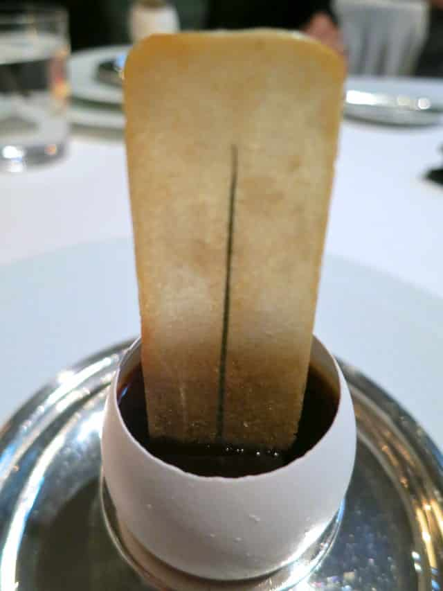 Hen Egg Custard at The French Laundry in Napa Valley