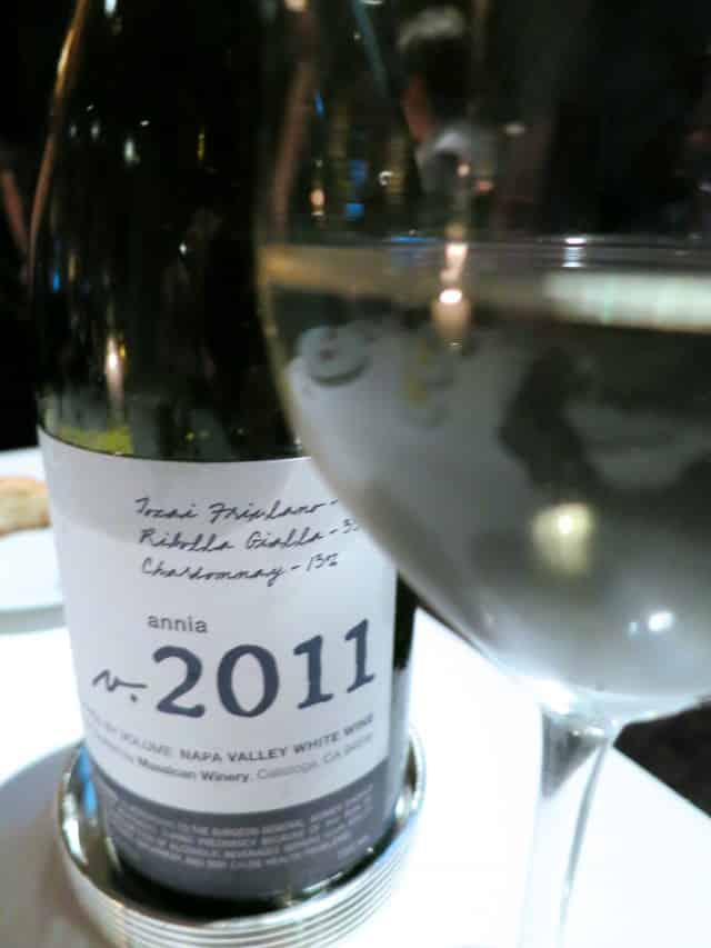 2011 Massican Annia Wine at The French Laundry in Napa Valley