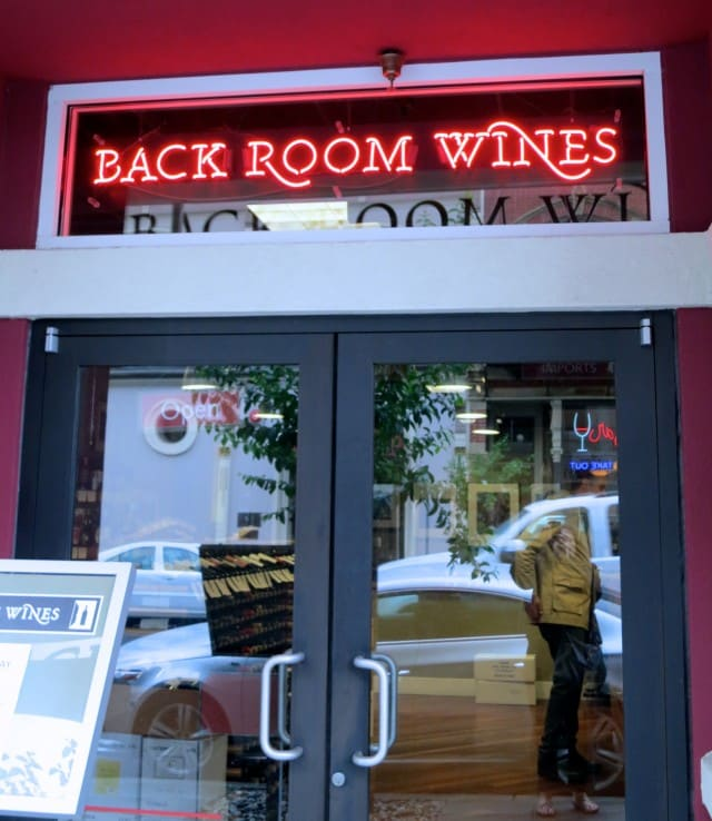 Back Room Wines in Napa Valley