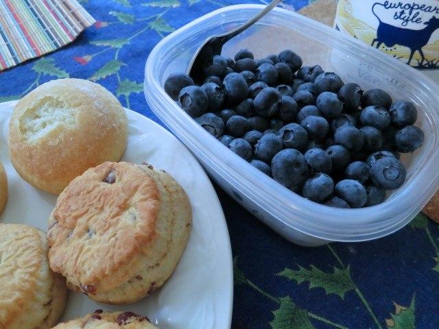 Scones and Blueberries Oakland Breakfast