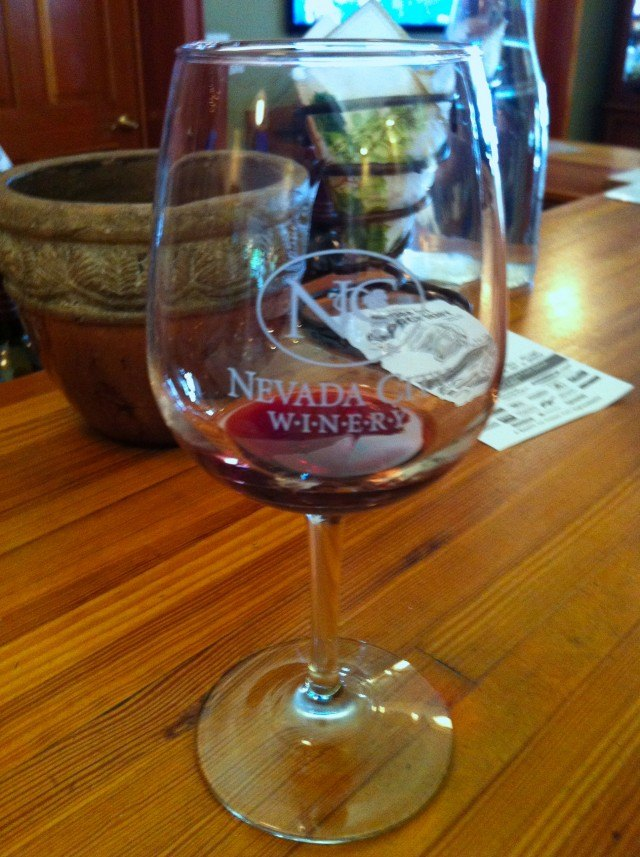 Wine Tasting Glass Sierra Foothills