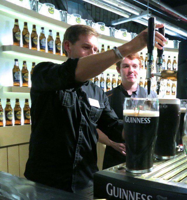 Letting the Guinness Flow