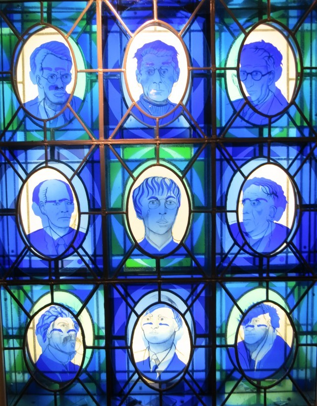 Stained Glass Writers at Chapter One Restaurant in Dublin Ireland