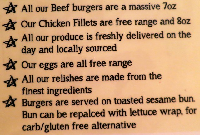 Typical Sourcing Information on a Dublin Menu
