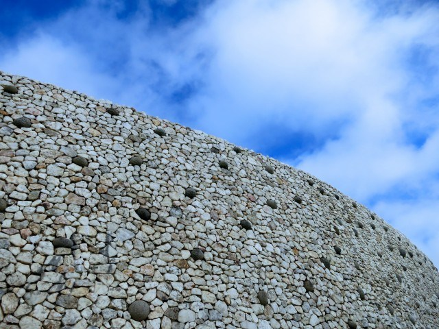 Looking Up at Newgrange in Ireland