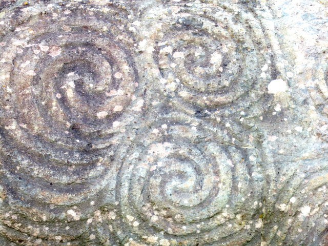 Neolithic Carvings at Newgrange in Ireland