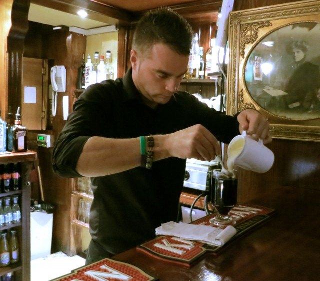 Irish Coffee Lesson at PJ O'Hares Pub in Carlingford, Ireland Dublin Day Trip