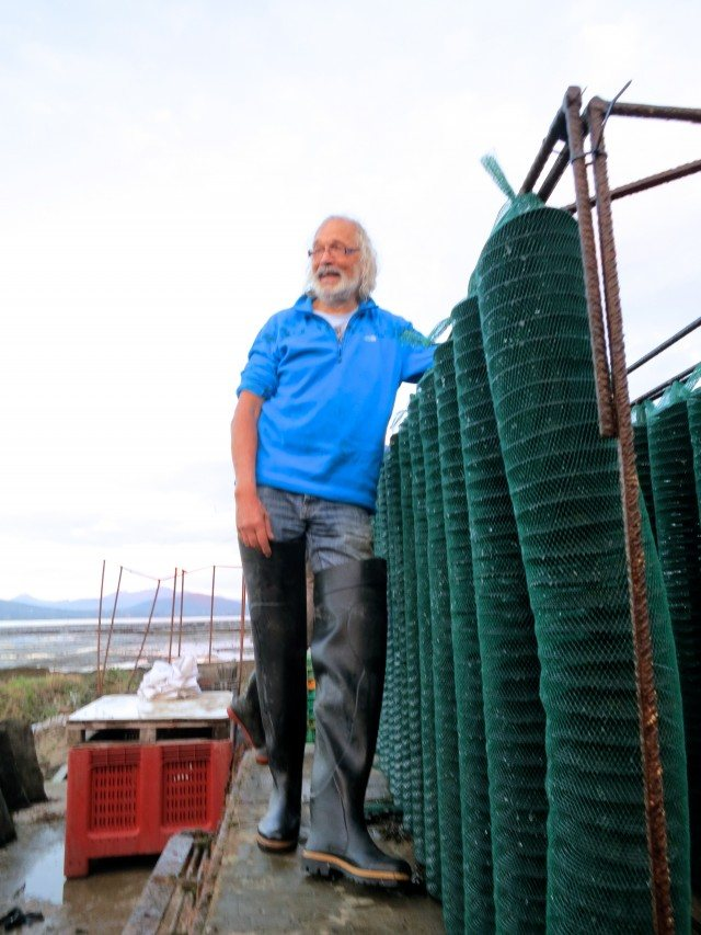 Peter Louet- Feisser, King of the Oyster Farm at Carlingford Oyster Company