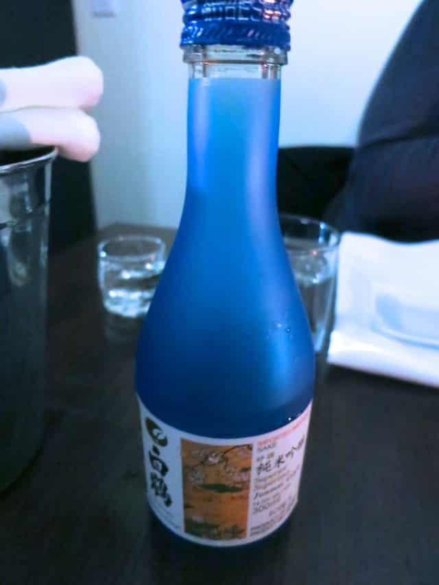 Sake at Park Restaurant in Montreal Canada