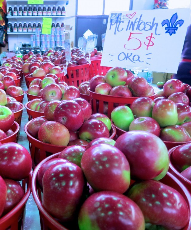 Apples at Jean-Talon in Montreal Canada